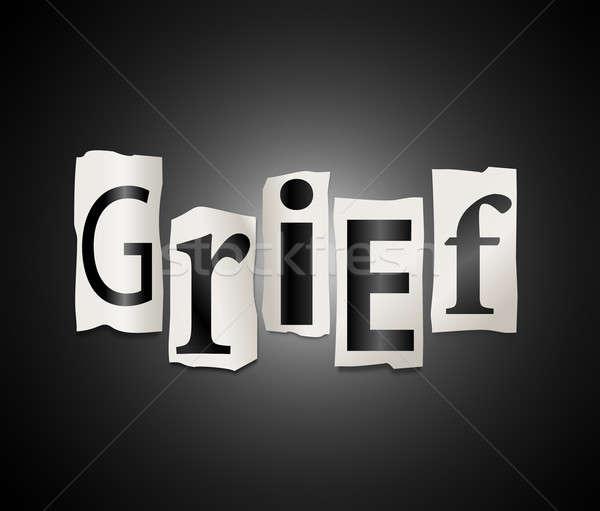 悲しみ 実例 カットアウト 印刷 文字 フォーム ストックフォト © 72soul