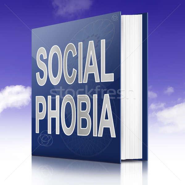 Social fobia ilustração texto livro título Foto stock © 72soul