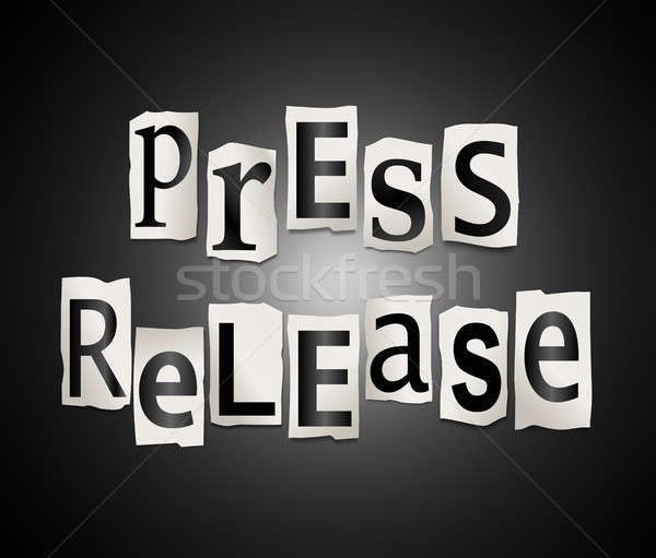 Press release concept. Stock photo © 72soul