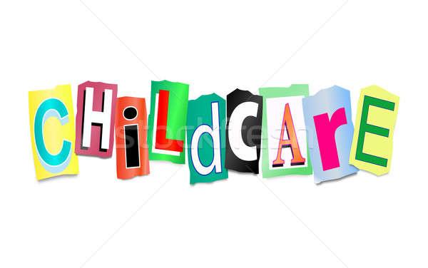 Garde d'enfants illustration imprimé lettres forme Photo stock © 72soul