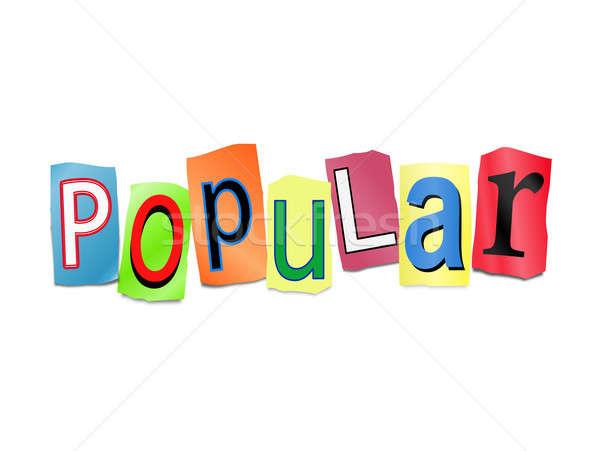 Popular ilustração conjunto impresso cartas Foto stock © 72soul