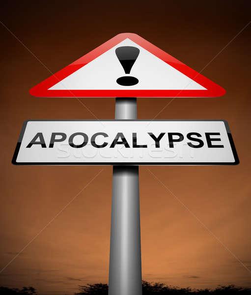Apocalypse teken illustratie grafische evenement concept Stockfoto © 72soul