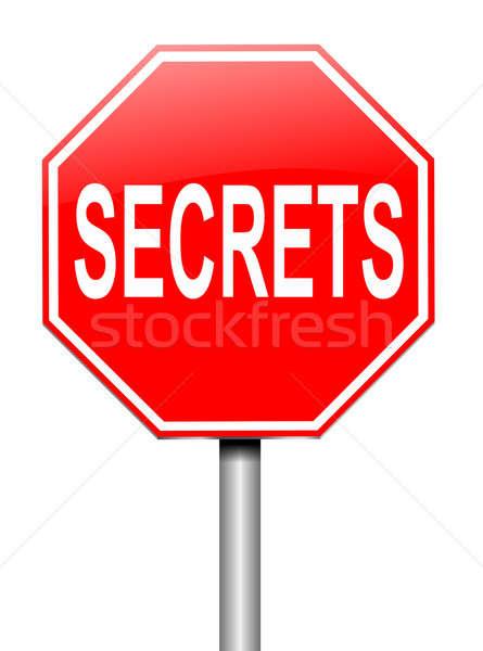 Secrets illustration signe sécurité informations blanche Photo stock © 72soul