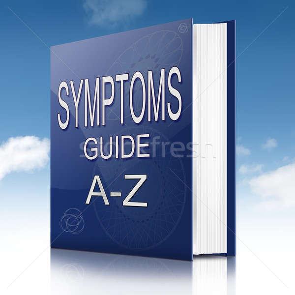Illustration texte livre santé bleu aider Photo stock © 72soul