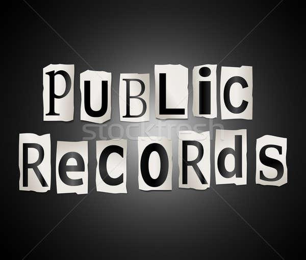 Public records concept. Stock photo © 72soul
