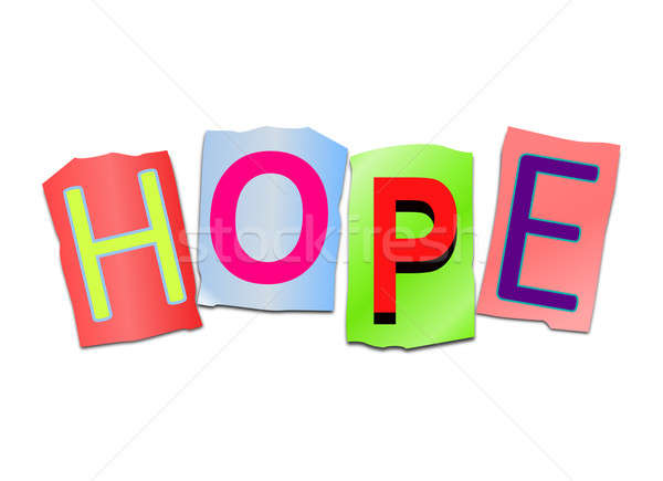 Hope word concept. Stock photo © 72soul