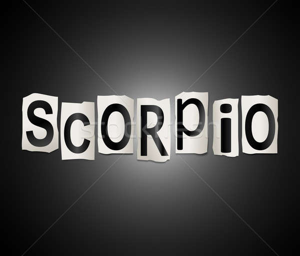 Scorpio word concept. Stock photo © 72soul