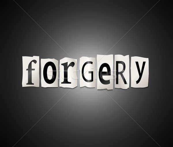 Forgery concept. Stock photo © 72soul