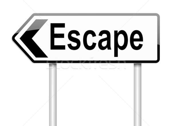 Escape sign. Stock photo © 72soul
