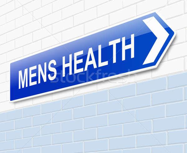 Mens Health sign. Stock photo © 72soul
