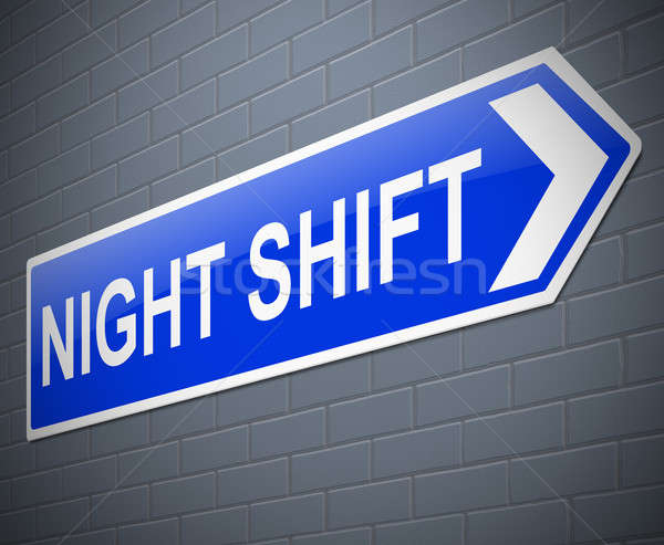 Night shift concept. Stock photo © 72soul