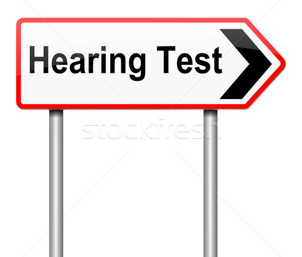 Hearing test concept. Stock photo © 72soul
