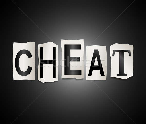 Cheat concept. Stock photo © 72soul