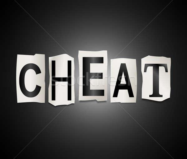 Stock photo: Cheat concept.