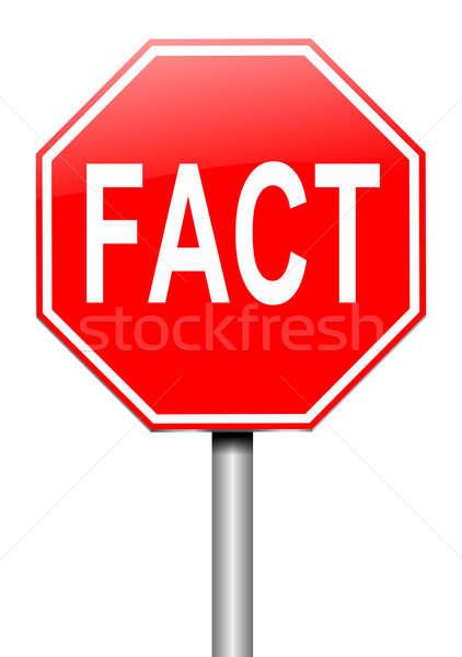 факт знак иллюстрация образование красный графических Сток-фото © 72soul