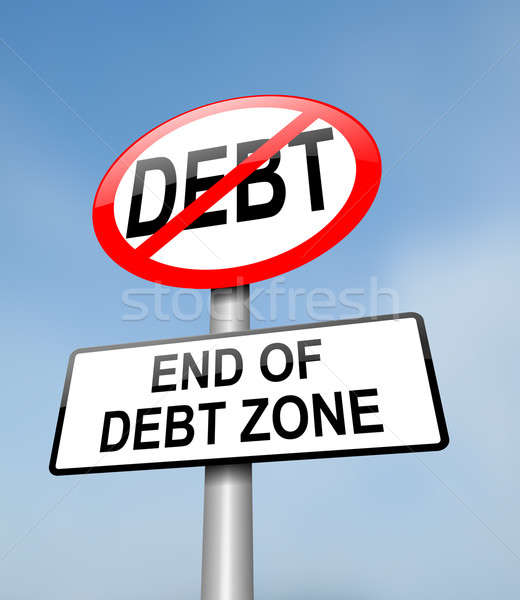 Debt free zone. Stock photo © 72soul
