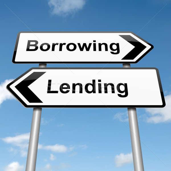 Stock photo: Lend or borrow.