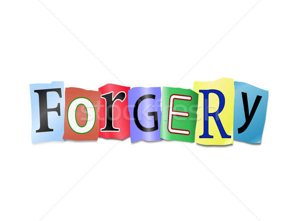Stock photo: Forgery concept.