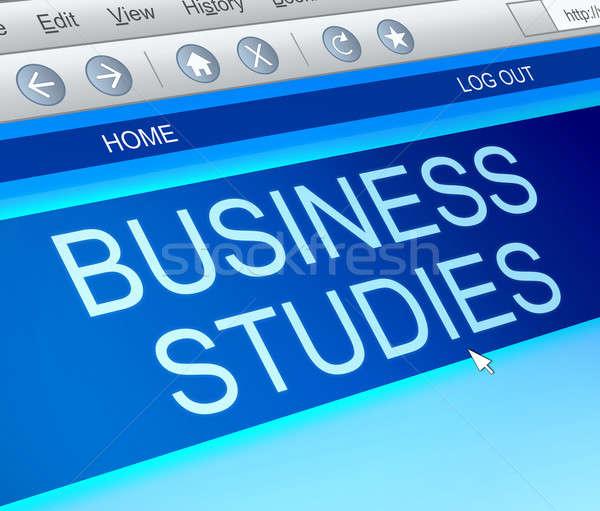 Business studies concept. Stock photo © 72soul