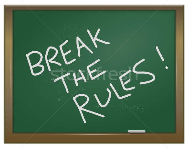 Break the rules. Stock photo © 72soul