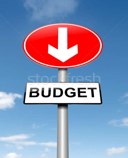 Budget decrease. Stock photo © 72soul