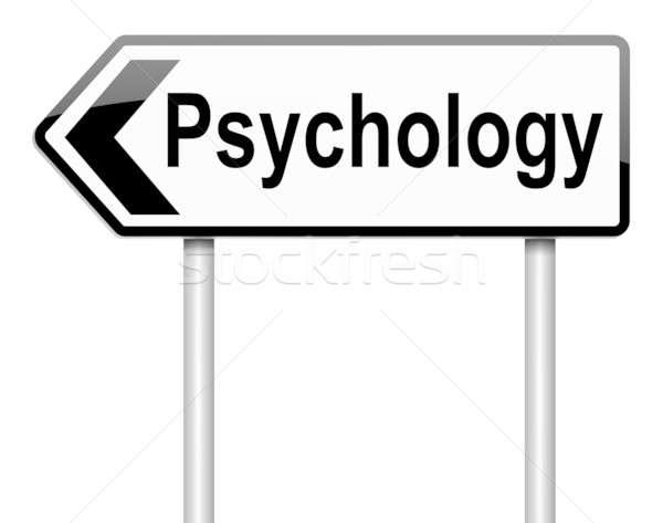 Psychologia ilustracja biały tle podpisania Zdjęcia stock © 72soul