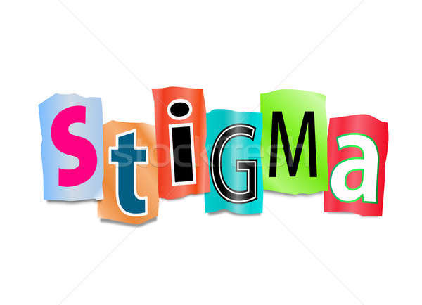 Stigma illusztráció kivágás nyomtatott levelek űrlap Stock fotó © 72soul