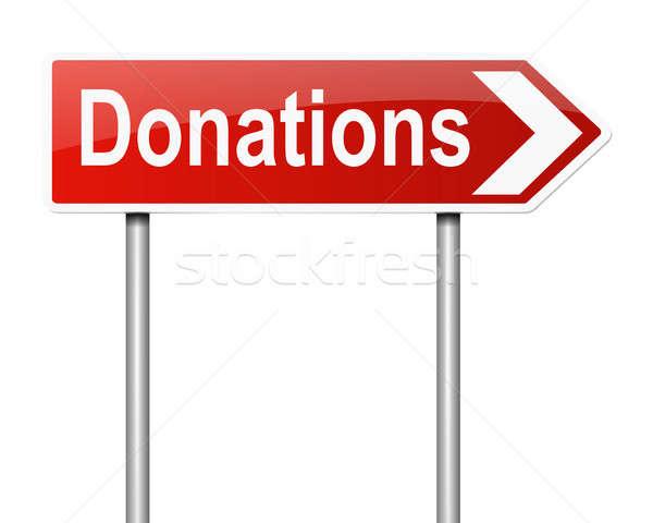 Donaties illustratie teken geld achtergrond ondersteuning Stockfoto © 72soul