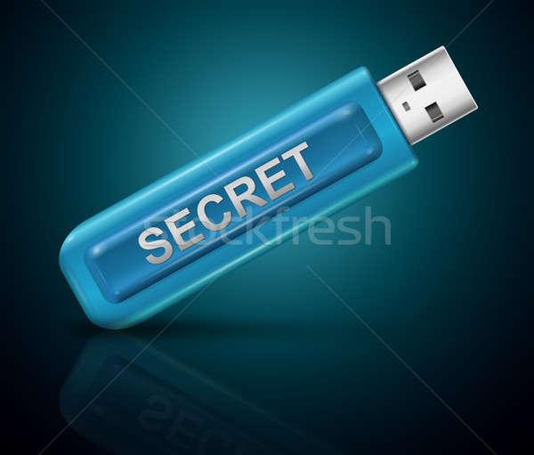 Segreto illustrazione usb flash drive pen tecnologia Foto d'archivio © 72soul