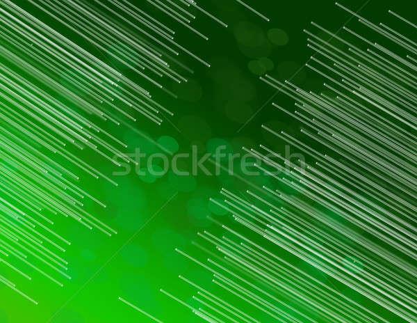 Green fiber optic abstract. Stock photo © 72soul