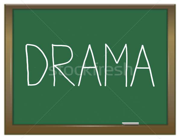 Dramat ilustracja zielone Tablica edukacji grać Zdjęcia stock © 72soul