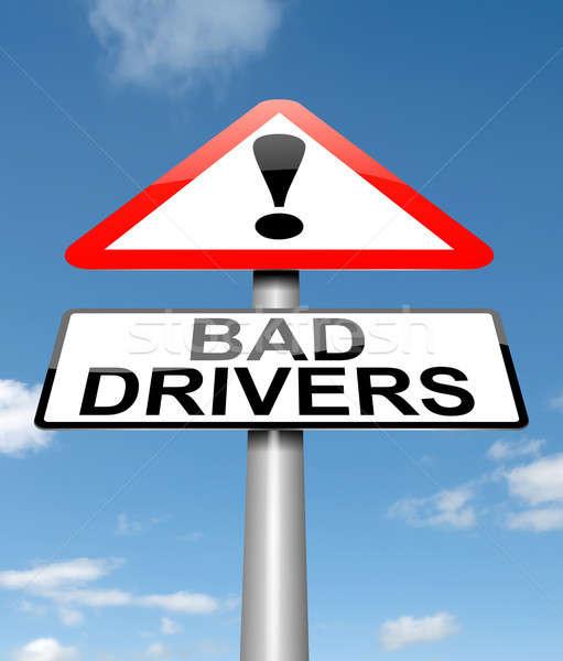 Bad driver alert. Stock photo © 72soul