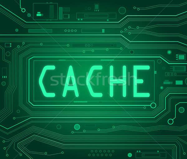 Cache concept. Stock photo © 72soul