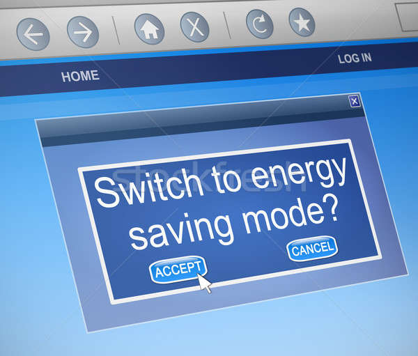 Energy saving mode concept. Stock photo © 72soul