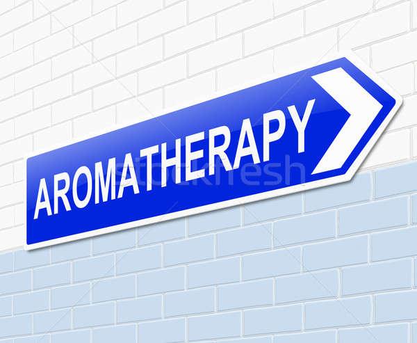 Aromatherapie Illustration Zeichen blau Konzept konzeptionelle Stock foto © 72soul