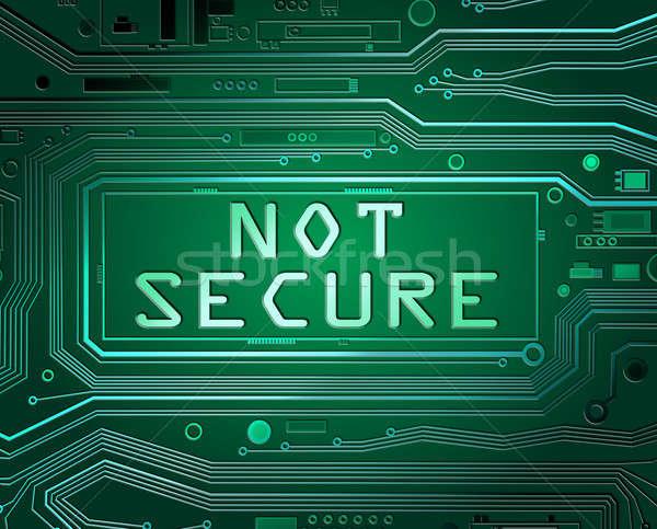 Niet beveiligde abstract stijl illustratie printplaat Stockfoto © 72soul