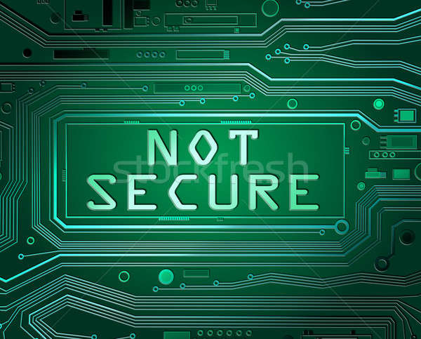 Not secure concept. Stock photo © 72soul