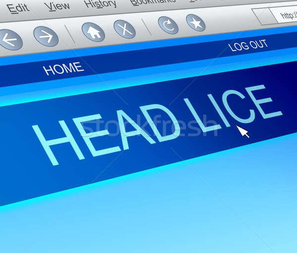 Head lice concept. Stock photo © 72soul
