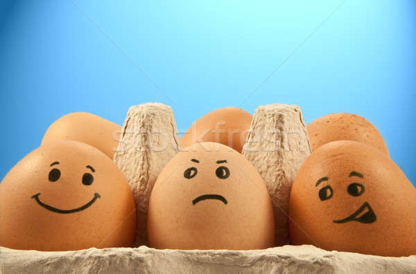 Egg emotions Stock photo © 72soul