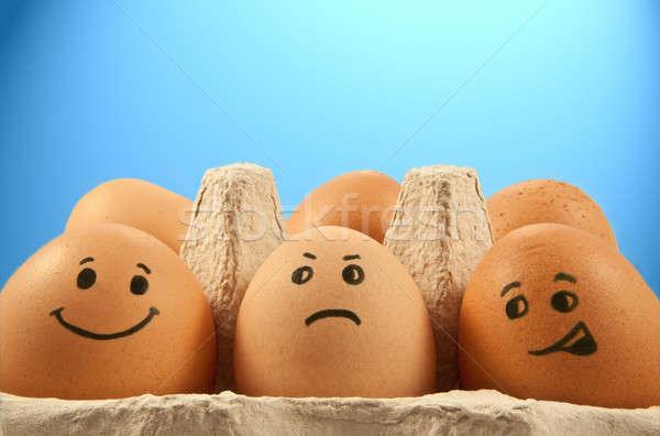 Uovo emozioni vicino basso livello parecchi Foto d'archivio © 72soul