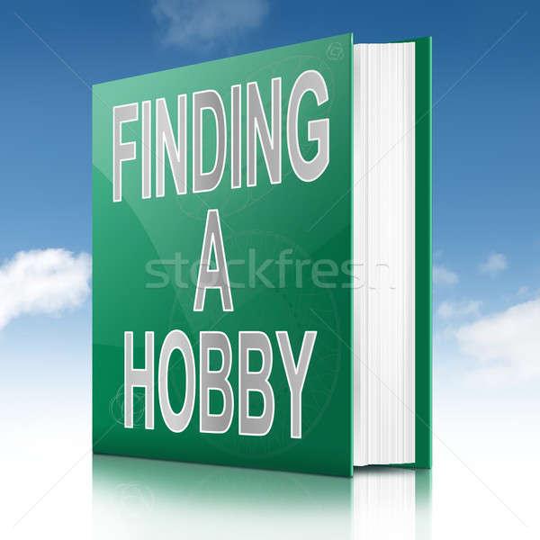 Hobby ilustración libro título cielo Foto stock © 72soul