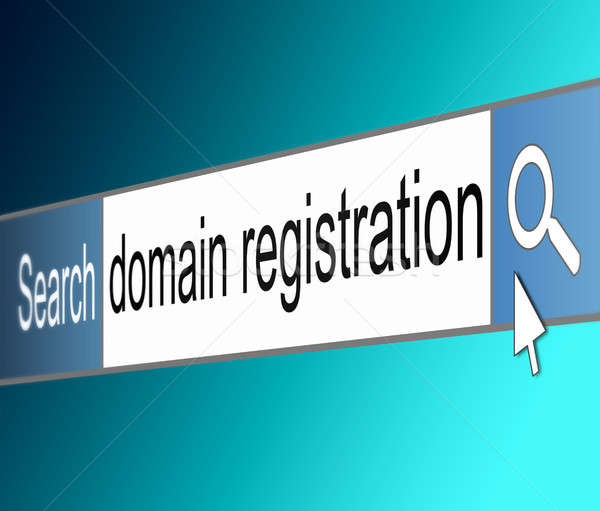 Domain registration concept. Stock photo © 72soul