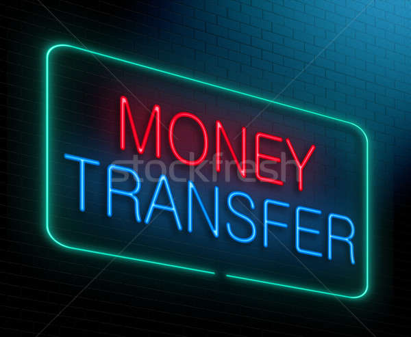 Stock photo: Money transfer concept.