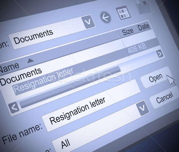 Resignation concept. Stock photo © 72soul