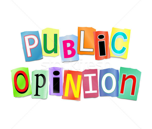 Public opinion illustration imprimé Photo stock © 72soul