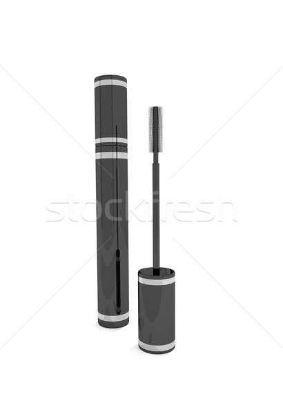 Rímel ilustração preto escove gráfico cosmético Foto stock © 72soul