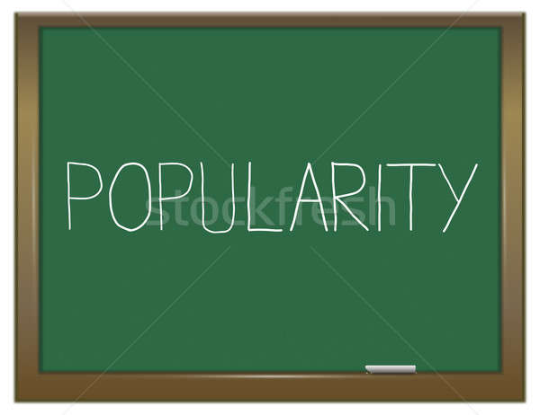 Popülerlik örnek yeşil kara tahta okul moda Stok fotoğraf © 72soul