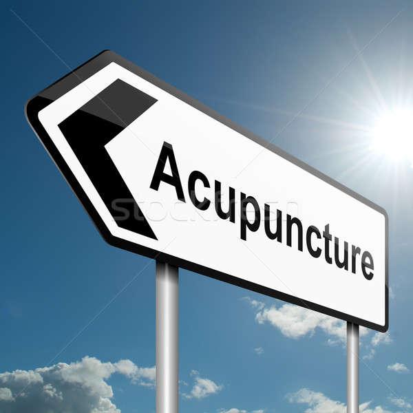 Acupuncture concept. Stock photo © 72soul