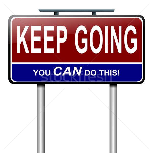 Motivasyon mesaj örnek beyaz arka plan Stok fotoğraf © 72soul