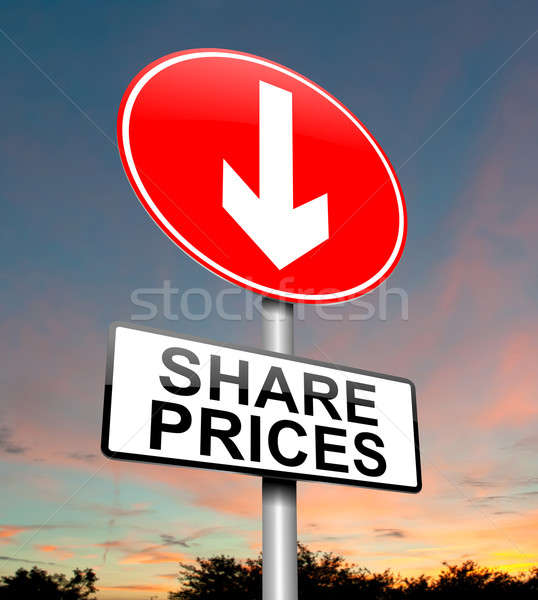 Share price decrease. Stock photo © 72soul